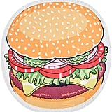 Tan & Red Hamburger Round Fringe Beach Towel ($52)