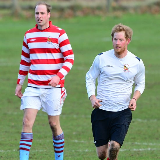 Prince Harry & Prince William Playing Soccer