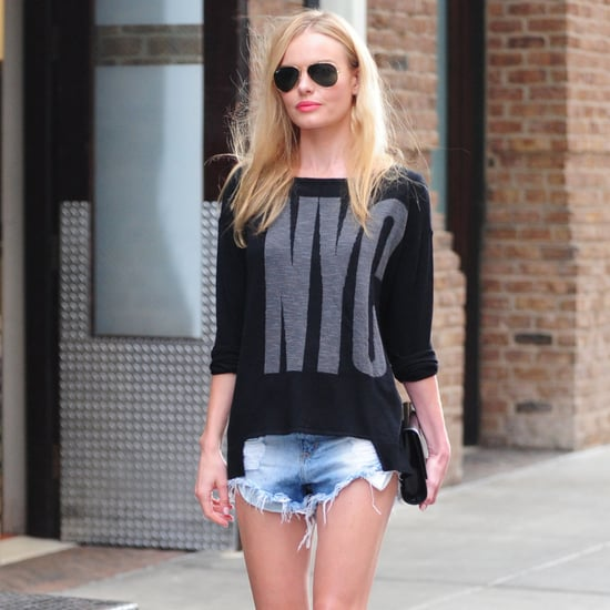 Kate Bosworth NYC Sweater Street Style