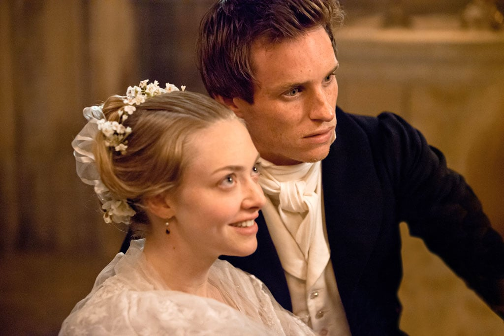 Amanda Seyfried as Cosette and Eddie Redmayne as Marius in Les Misérables.