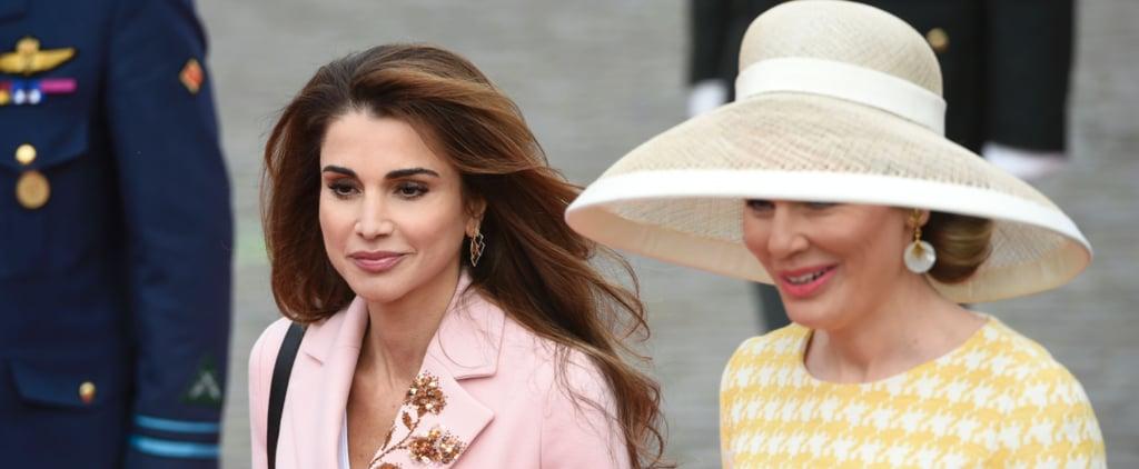 Queen Rania's Pink Coat May 2016