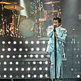 Harry Styles Wearing a Blue Gucci Suit in 2018