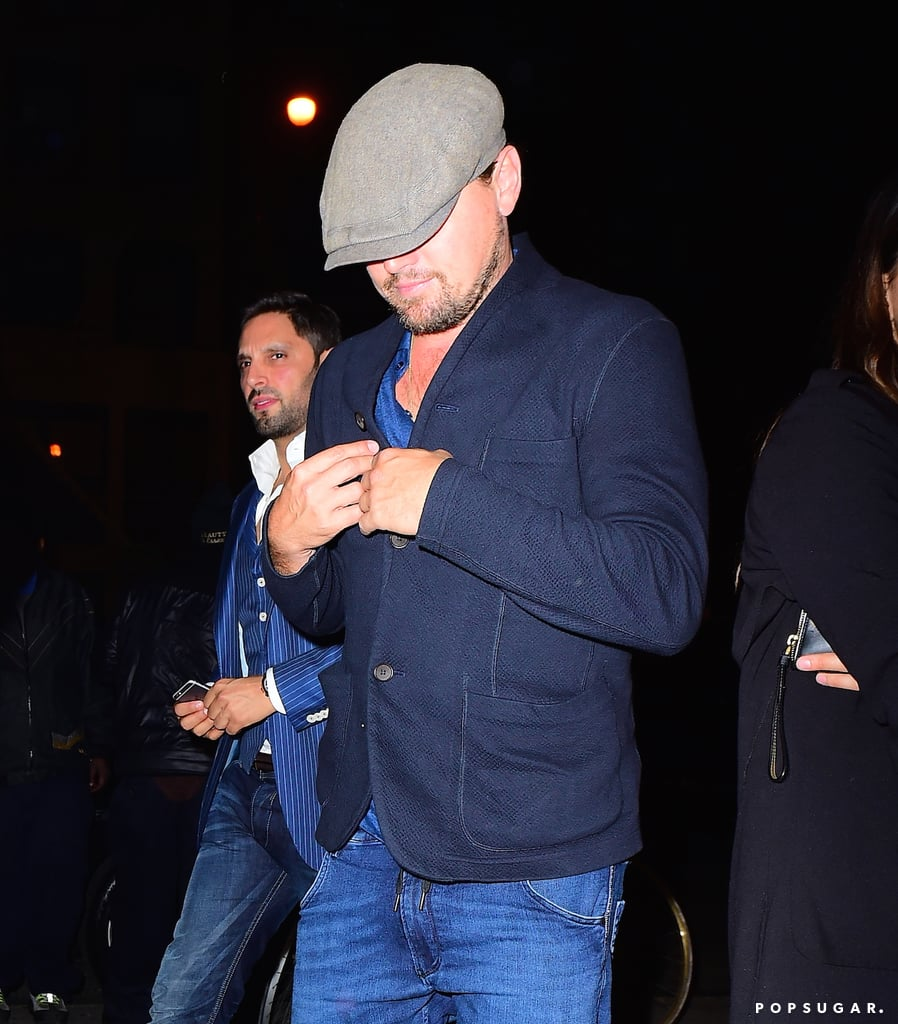 """After living it up with a group of ladies in Cannes,Leonardo DiCaprio was back in NYC and spotted heading into the Up&Down nightclub for a night of partying on Tuesday night. Also on the scene was Rihanna, who was snapped in a Nine Inch Nails rocker tee and fur stole while making her way inside the popular hotspot. Leoand Rihanna have been rumored flames for a while now, so seeing them together but kind ofnottogether shouldn't come as too much of a surprise;while Leo has recently been linked toPolish model Ela Kawalec, all's fair in love and high-profile hookups. The last time we got a glimpse of Rihanna and Leo togetherwas at a Coachella party in April, and they looked pretty cozy while chatting to each other in the crowd. We can only hope that Leo called the singer """"boo boo"""" at some point in the night."""