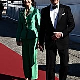 King Carl XVI Gustaf of Sweden and Queen Silvia of Sweden arrived for the festivities.
