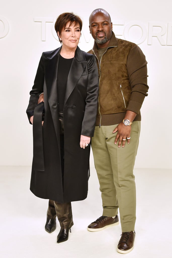 Kris Jenner and Corey Gamble at the Tom Ford Fall 2020 Show