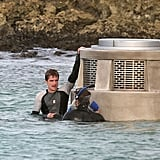 Jennifer Lawrence Filming Hunger Games in Hawaii