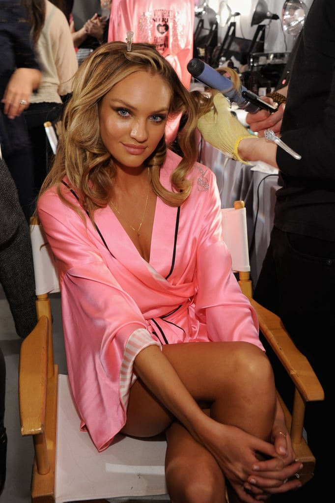 Candice Swanepoel had her hair done.