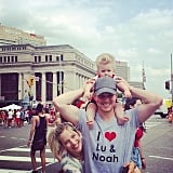 Michael Bublé celebrated Canada with his loves — Lu and Noah! Source: Instagram user michaelbuble