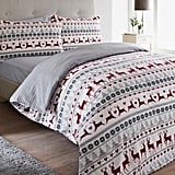 Matalan Fairisle Flannel Christmas Duvet Set