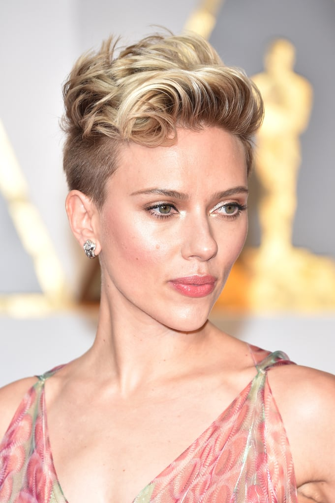 Scarlett Johansson Celebrity Short Pixie Haircuts At