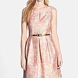 Tahari Belted Metallic Floral Jacquard Fit & Flare Dress ($138)