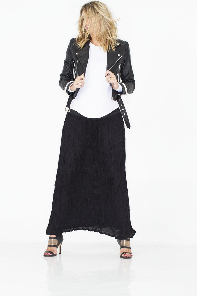 The Kit Kat Maternity Maxi Skirt ($81) adds boho flair for Summer with a tank and sandals, and through Fall when topped with a leather or denim jacket.