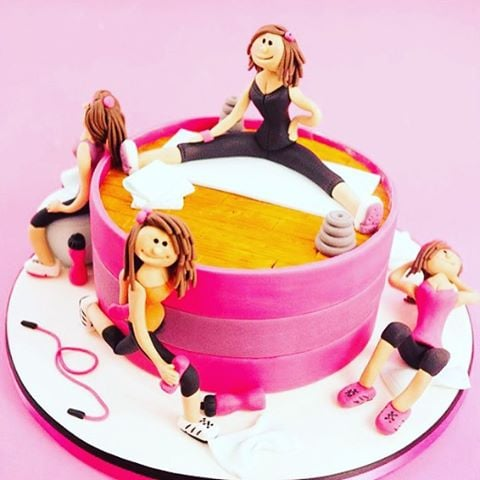 Fitness-Themed Cakes