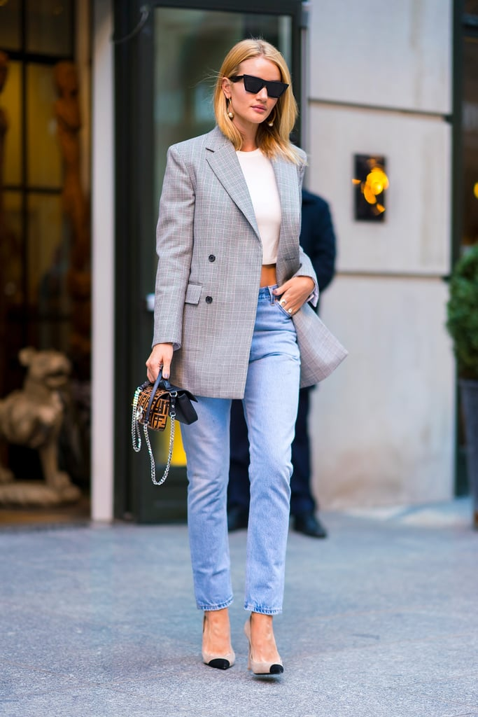 Make Your Blazer and Jean Combo More Summery With a Crop Top