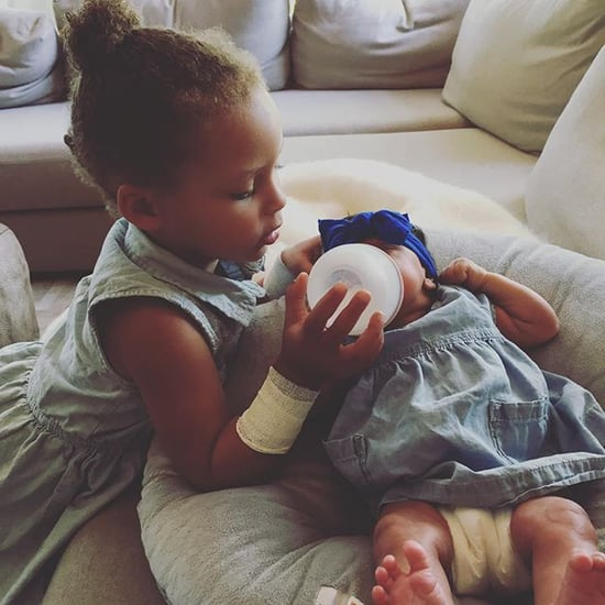 Riley Curry Feeding Her Baby Sister Instagram Picture