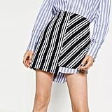 Zara Striped Mini Skirt ($36)