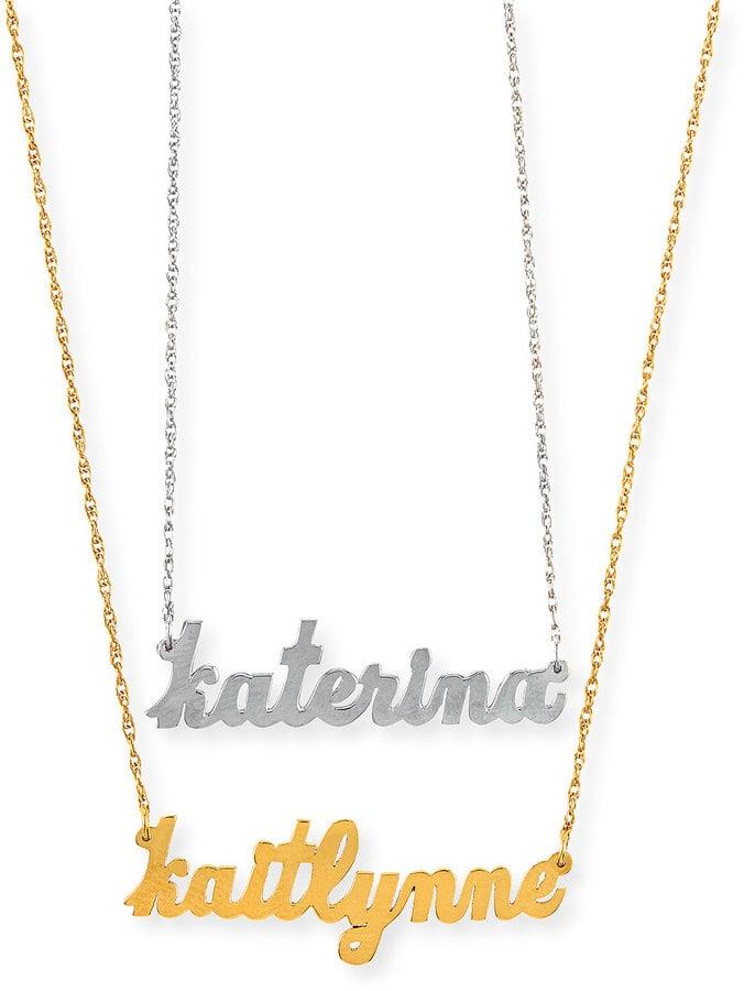 d5ed16c286195 Jennifer Zeuner Jewelry Serafina Personalized Mini Nameplate ...