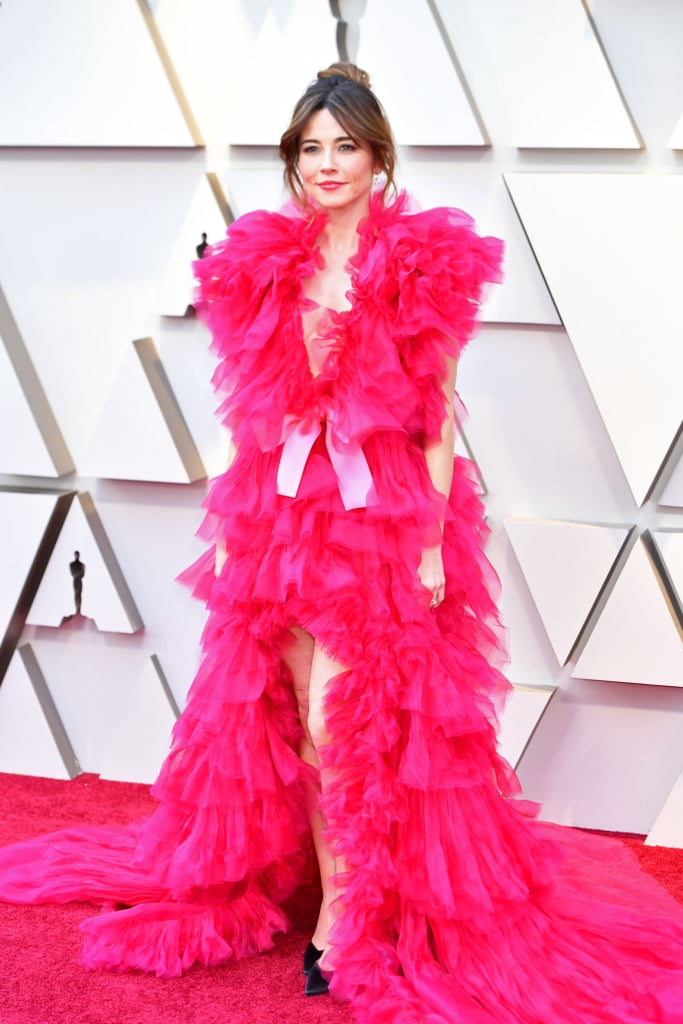 Linda Cardellini Pink Dress Oscars 2019 Popsugar Fashion