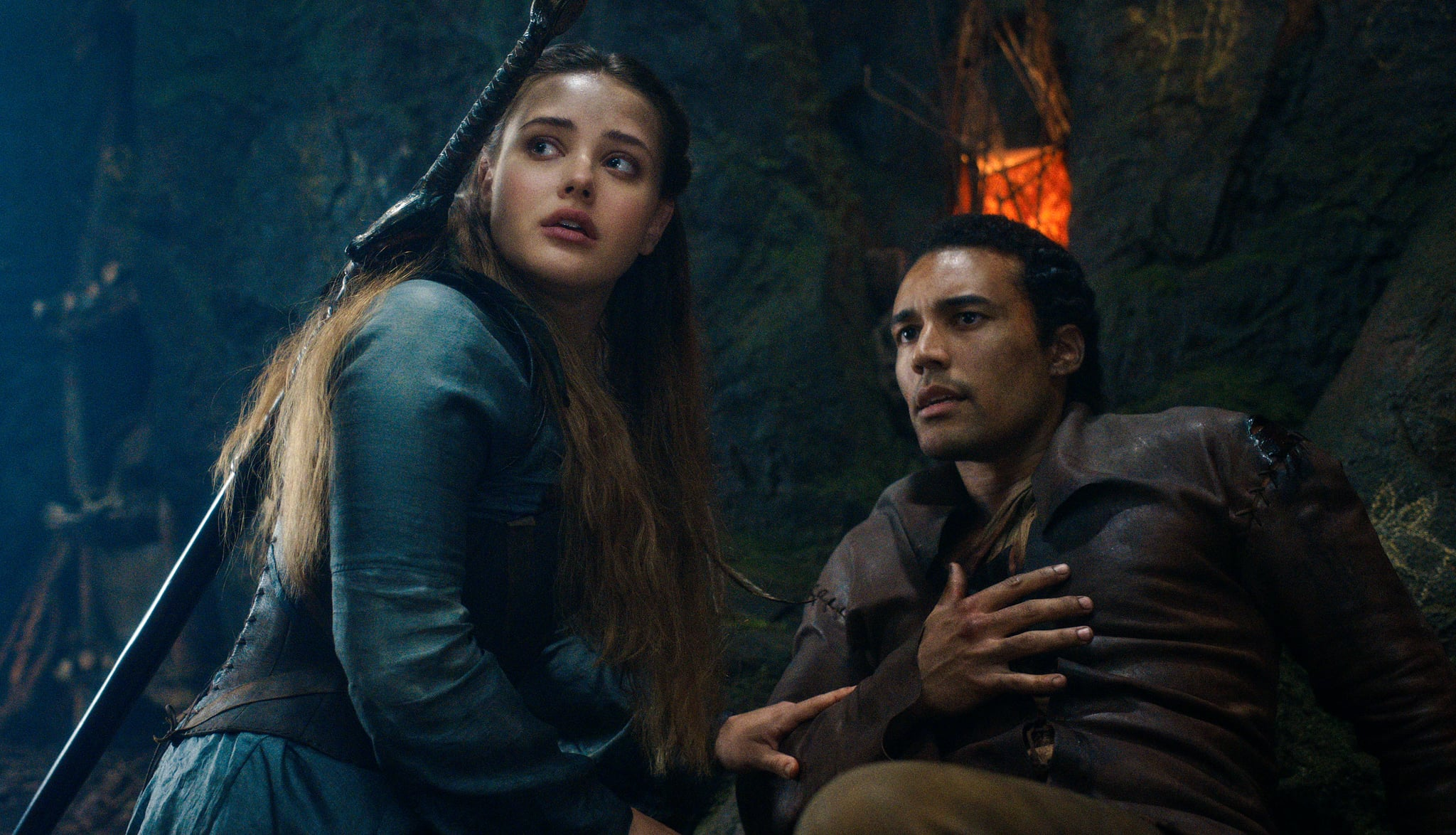 CURSED (L to R) KATHERINE LANGFORD as NIMUE and DEVON TERRELL as ARTHUR in episode 107 of CURSED Cr. COURTESY OF NETFLIX  2020
