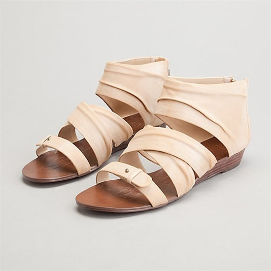 So sweet. Pale pink sliver-wedge flats in soft, washed leather.   Boutique 9 Gilla Sandals, $94