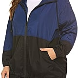In'Voland Women's Plus-Size Raincoat Rain Jacket Lightweight Waterproof Coat