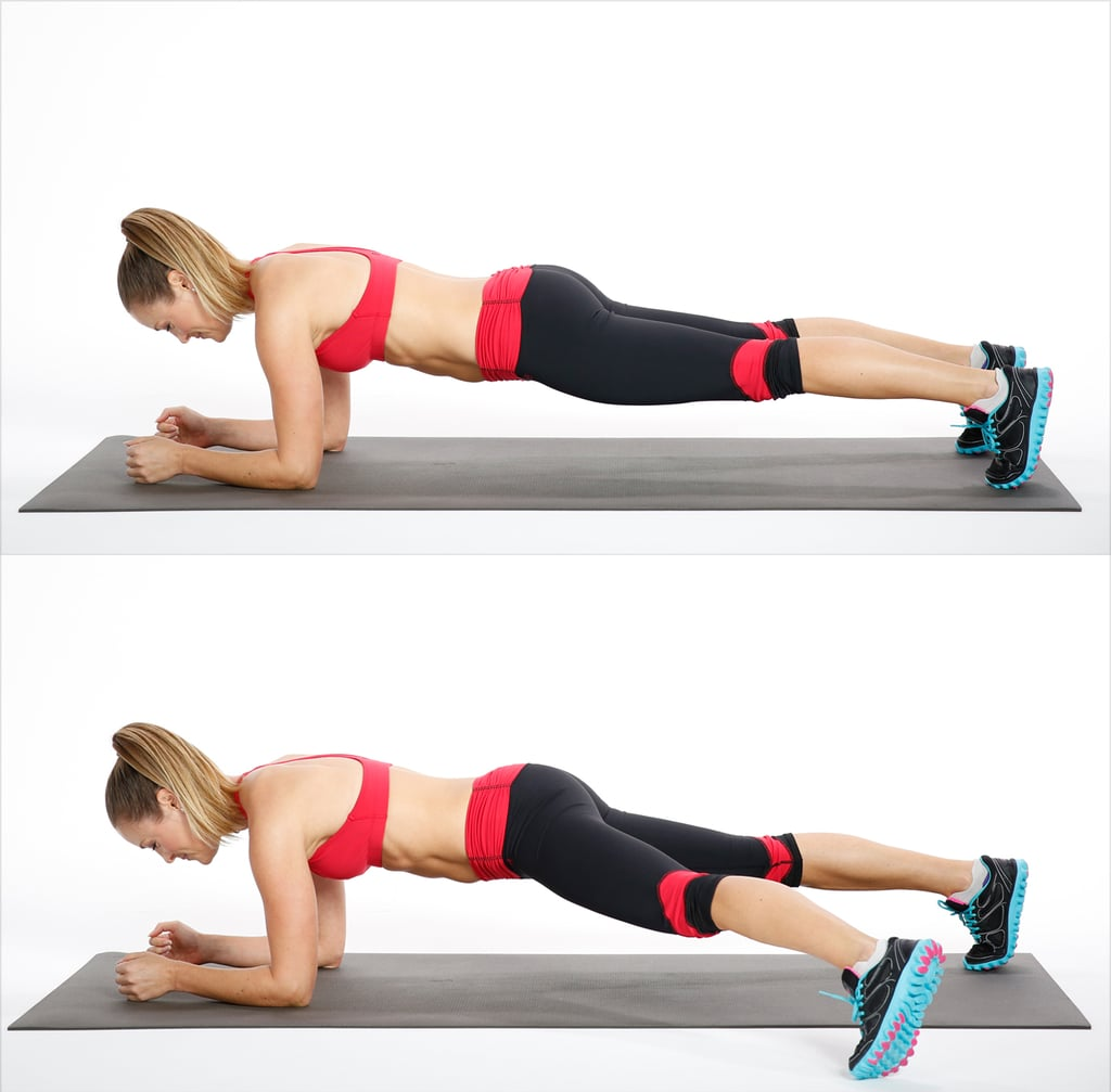 Circuit Two: Elbow Plank Side Step