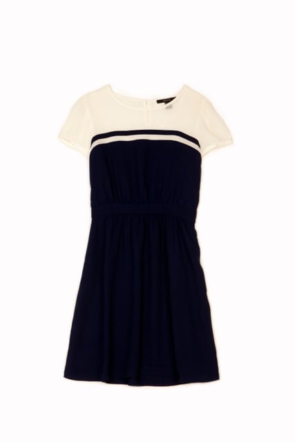 Colorblocking feels preppy done in Forever 21's navy and white shift ($20).