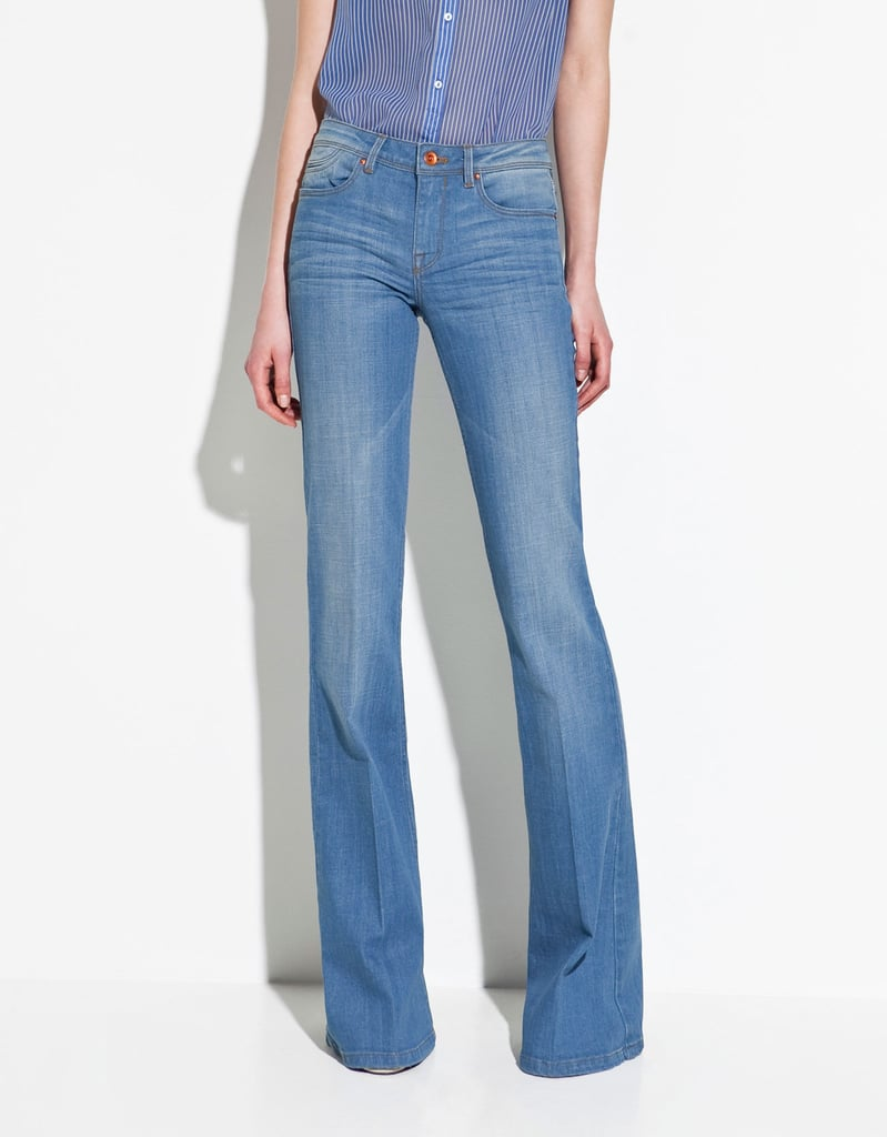 Go full-on rodeo with this flared boot cut jeans via an equally cool button-up denim shirt or pare down the look with a silky white blouse and a printed skinny belt. Zara Boot Cut Jeans ($60)