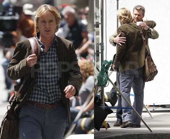 Eric Dane And Owen Wilson Film Marley And Me In Philadelphia