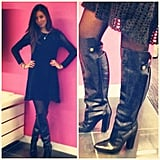 Associate Editor Marisa Tom tried on a killer pair of knee-high Alexander Wang boots.