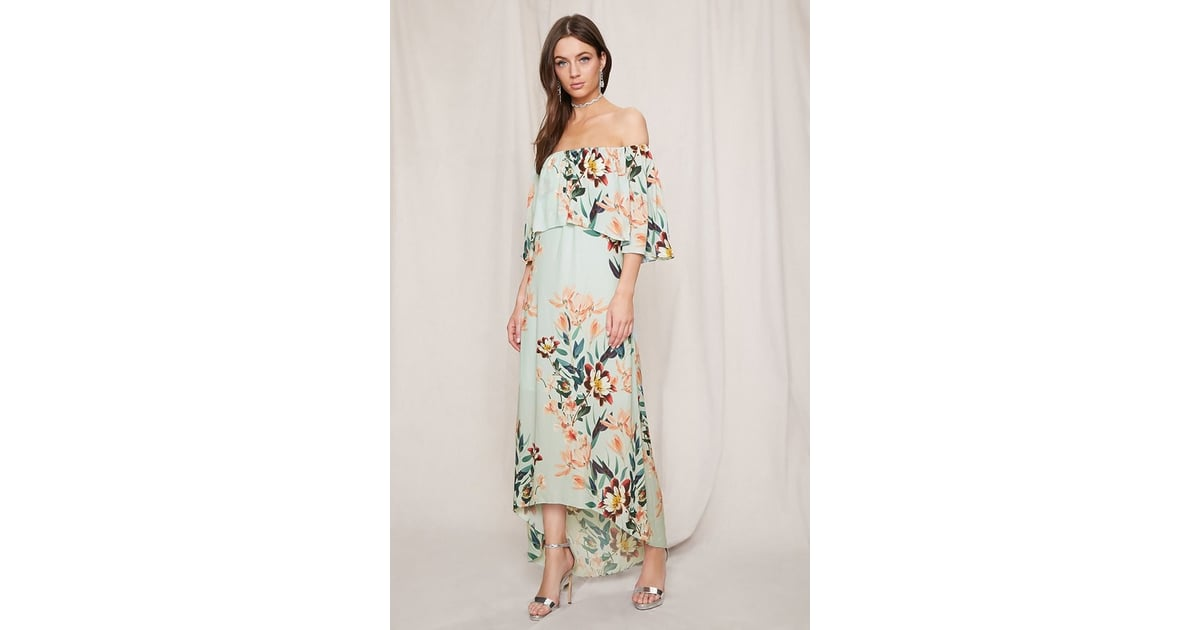 Forever 21 Forever 21 Pretty By Rory Floral Midi Dress Forever 21