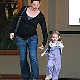 Violet Keeps Jennifer on Her Toes