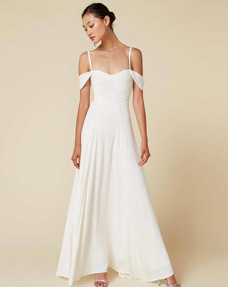 Reformation Poppy Dress | Courthouse Wedding Dress | POPSUGAR ...