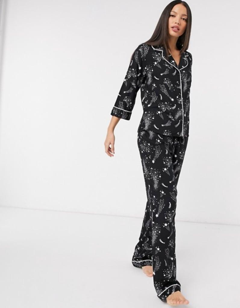 Asos Design Constellation Star Print Pyjama Set
