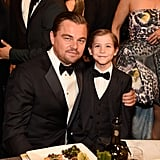 Pictured: Leonardo DiCaprio and Jacob Tremblay