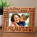 Words For Grandma Personalized Frame