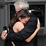 Jennifer Garner tightly hugged Victor Garber backstage following his performance at 54 Below.