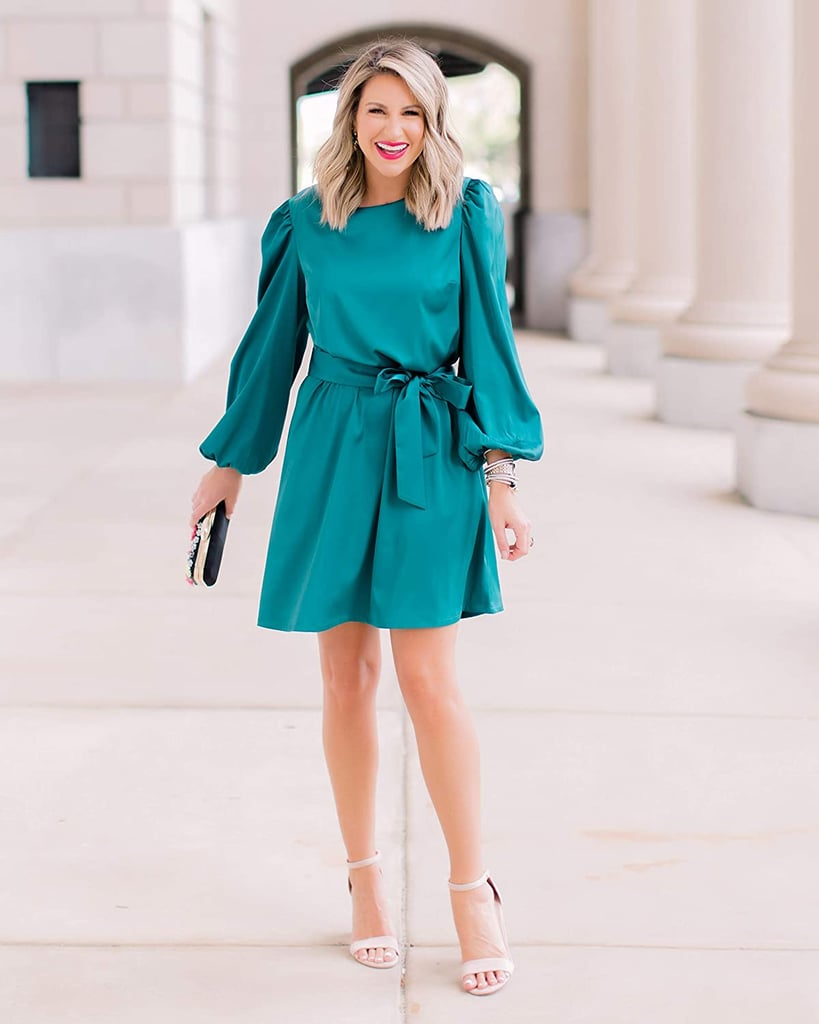 The Drop Belted Silky Stretch Dress