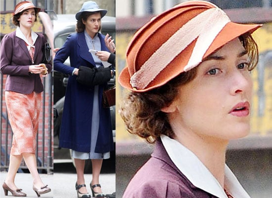 Photos of Kate Winslet Filming Mildred Pierce in New York