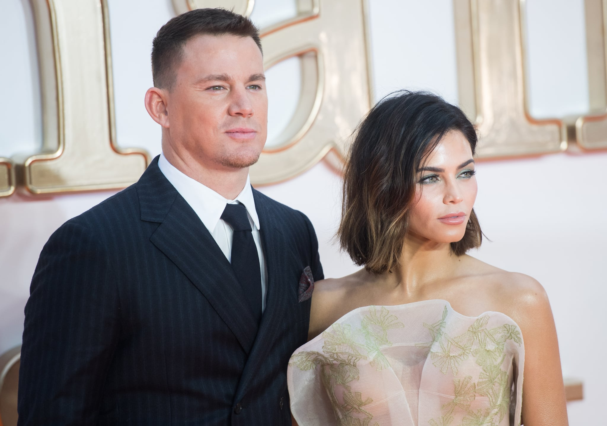 LONDON, ENGLAND - SEPTEMBER 18:  Channing Tatum and Jenna Dewan Tatum attends the 'Kingsman: The Golden Circle' World Premiere held at Odeon Leicester Square on September 18, 2017 in London, England.  (Photo by Samir Hussein/WireImage)
