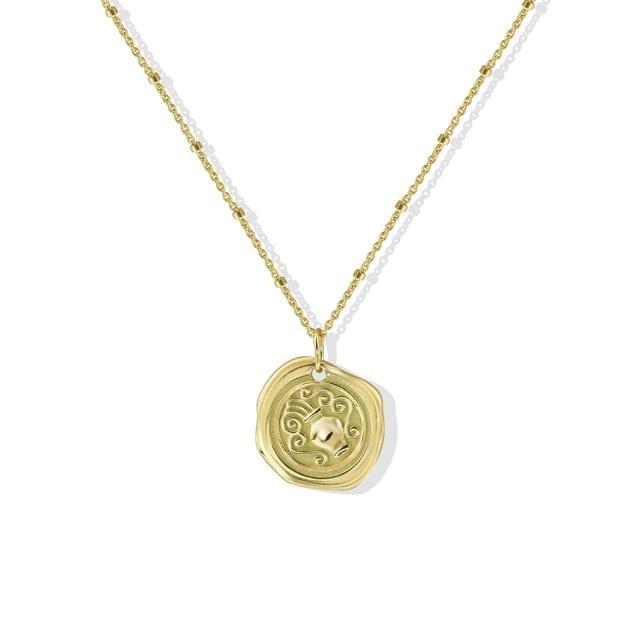 Argento Vivo Stamped Zodiac Necklace