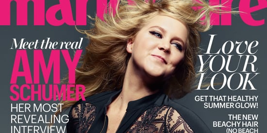 Amy Schumer Rocks A Sheer Lace Bodysuit On The Cover Of Marie Claire