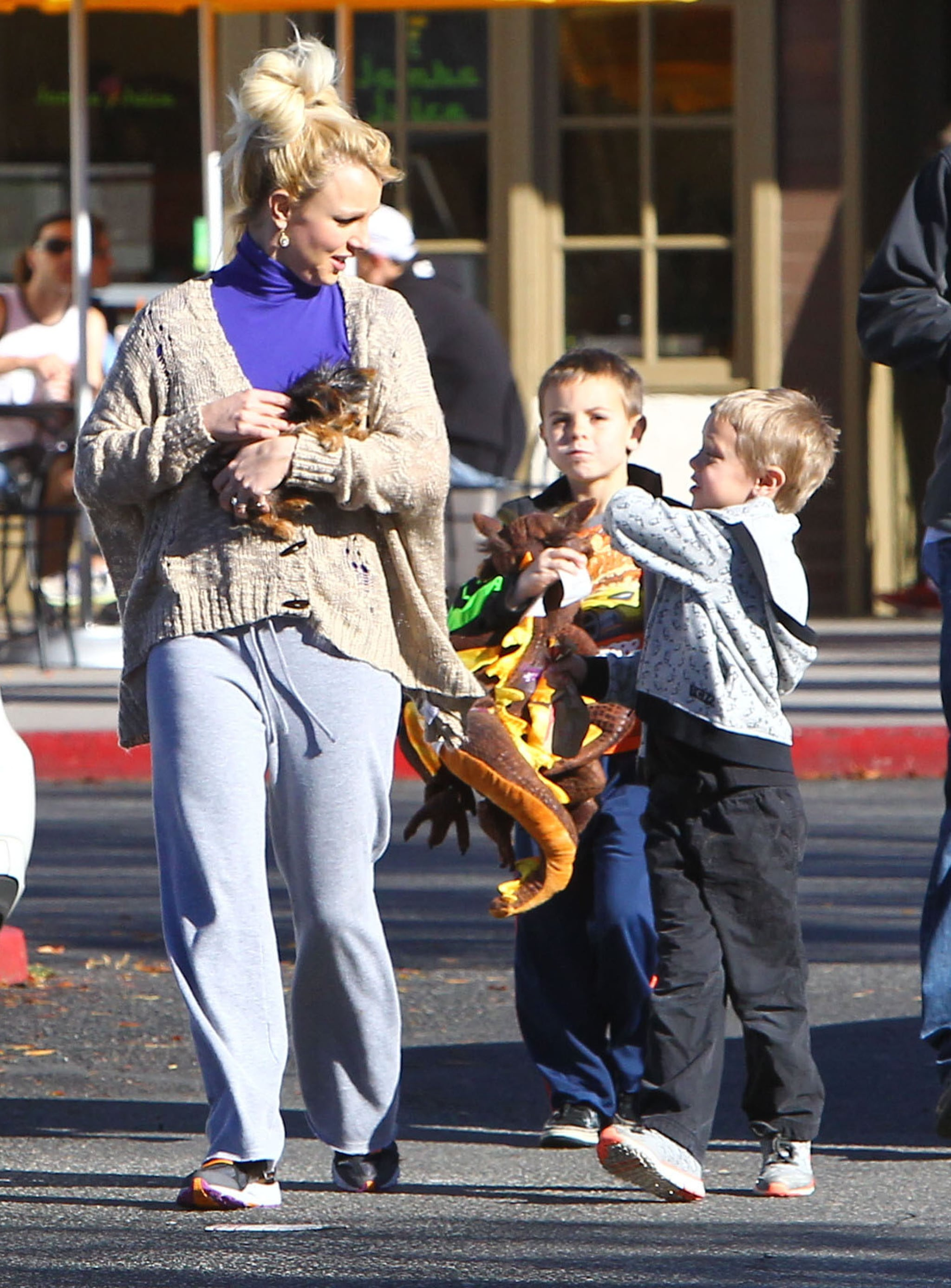 Brit and Her Boys Prep For Jason's Birthday With a Starbucks Stop
