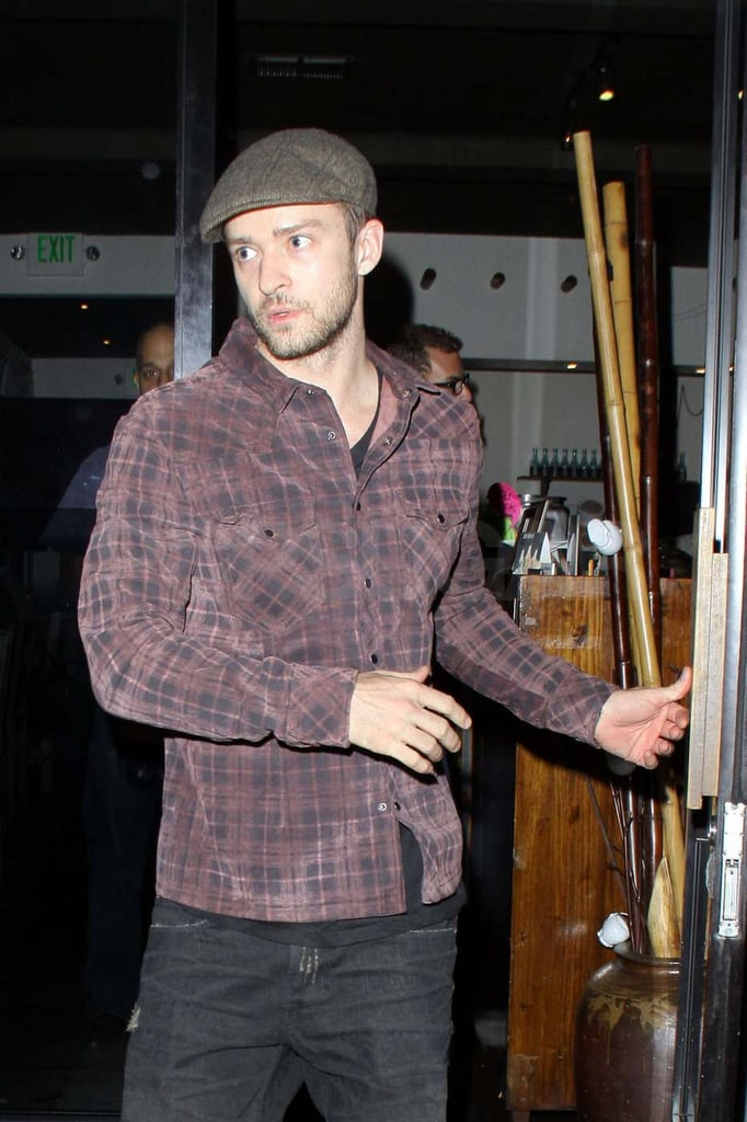Pictures of Justin Timberlake on Set