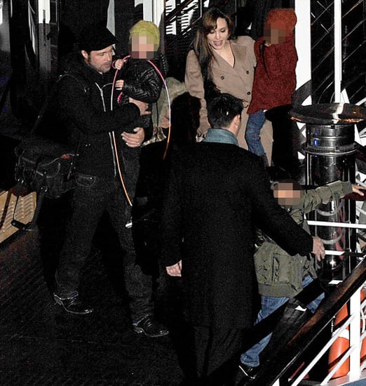 Pictures of Brad Pitt, Angelina Jolie and Kids Shiloh, Zahara, and Maddox Celebrating Pax's Birthday on River Seine in Paris