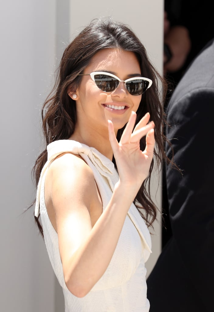 The 20-year-old model and reality TV star arrived in the South of France, just in time to soak up the sun and glamour of the Cannes Film Festival. On Thursday, Kendall was spotted wearing all white for a Magnum Ice Cream photocall, and was also seen enjoying the views from her hotel balcony with her mom, Kris. If her latest appearances are anything like her spin around Cannes last year, we're definitely in for a treat.
