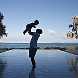 Jay Z and Blue shared a moment in front of a beautiful ocean.  Source: Tumblr user Beyoncé