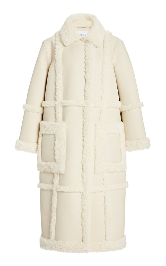 Stand Studio Patrice Faux Shearling and Suede Coat