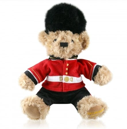 If you have a little one who'll appreciate it, a Buckingham Palace Guardsman Teddy Bear ($24) is a great memory of the day.