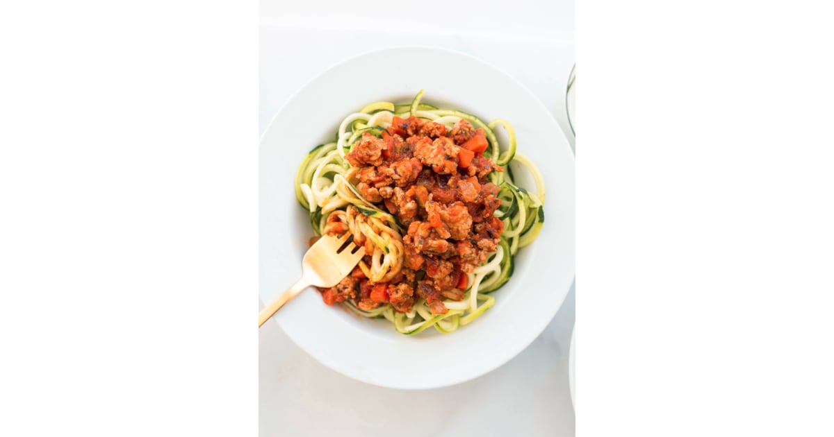 Turkey Bolognese with Courgette Noodles   Best Healthy ...